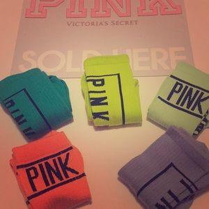 5 PAIRSVictoria Secret LOVE PINK Cheerleader Socks